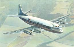 """D9204 """"AIR FRANCE VICKERS - VISCOUNT"""" CART NON SPED - Aerei"""