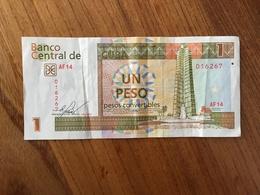 CUBA 1 Peso Convertible CUC - 2016 - VF - Cuba