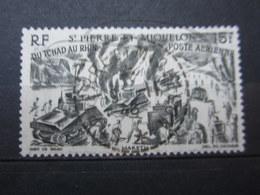 """VEND BEAU TIMBRE DE POSTE AERIENNE DE S.P.M. N° 14 , OBLITERATION """" ST-PIERRE ET MIQUELON """" !!! - Oblitérés"""