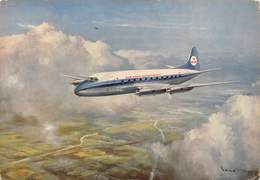 """D9205 """"KLM VICKERS - VISCOUNT"""" CART NON SPED - Aerei"""