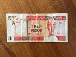 CUBA 3 Pesos Convertibles CUC - 2016 - VF/XF - Cuba