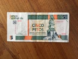 CUBA 5 Pesos Convertibles CUC - 2013 - VF/XF - Cuba