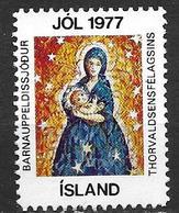 Islande 1977 Vignette De Noël Fondation Thorvalsen - Islande
