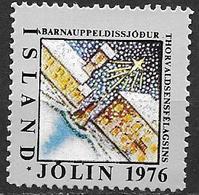 Islande 1976 Vignette De Noël Fondation Thorvalsen - Islande