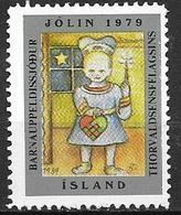 Islande 1979 Vignette De Noël Fondation Thorvalsen - Islande