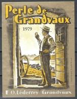Etiquette De Vin Vaudois - Perle De Grandvaux - Etiquettes