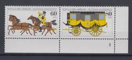 Bund 1255-1256 Eckrand Rechts Unten Formnr. 2 MOPHILA Hamburg 60/80 +20 Pf **  - BRD