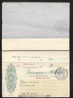 Banque ADAM Siège à Boulogne Sur Mer Chéquier Année 30 Agence De Berck Plage - Contient 6 Chèques - Cheques & Traverler's Cheques