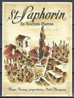 Etiquette De Vin Vaudois * St-Saphorin - Es Roches-Plattes * - Etiquettes