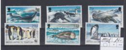 BAT (BBK) Michel Cat.No. Mnh/** 193/198 Wwf Issue Birds - Territoire Antarctique Britannique  (BAT)