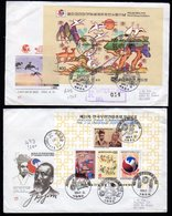 South Korea 2 Covers With S/Sheets Send To Holland. - Corea Del Sur