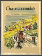 Etiquette De Vin Vaudois * Chasselas Vaudois * - Etiquettes