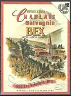 Etiquette De Vin Vaudois * Bex - Salvagnin * - Etiquettes