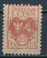 °°° POLONIA POLAND - SRODKOWA LITWA - 1920 MNH °°° - 1919-1939 Repubblica