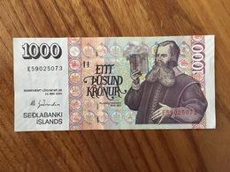 ISLANDE 1000 Kronur - P 59 - 22 Mai 2001 - XF - Islande