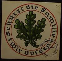 WHW Winterhilfswerk Schützt Die Familie / Wir Opfern Stempel Darmstadt - 1939-45