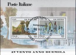 """PIA - ITALIA - 2000 : Avvento Dell' Anno 2000 """" La Natura - La Città""""   - (SAS Bf 27) - Blocchi & Foglietti"""