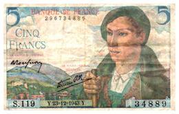 Billets > France >5  Francs   Y.23=12=1943.Y. - 1871-1952 Circulated During XXth