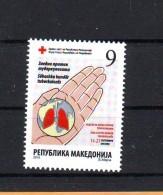 Macedonia 2016 Y Charity Red Cross Tuberculosis MNH - Macédoine
