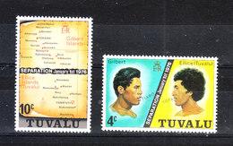 Tuvalu  - 1976. Indipendenza: Separazione Da Gilbert & Ellice. Independence: Separation From Gilbert & Ellice. MNH - Storia