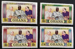 Ghana  1981 Visit Of Pope John Paul 11 M.N.H. - Ghana (1957-...)