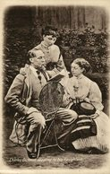 Charles Dickens Reading To His Daughters - Escritores