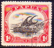 "PAPUA (BRITISH NEW GUINEA) 1910 SG #76 1d Used Large ""PAPUA"" Wmk Upright Perf.12½ CV £15 - Papua New Guinea"