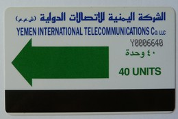 YEMEN - Autelca - YEM5 - 1990 - Green Arrow - 40 Units - Used - Yemen