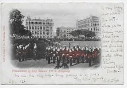 Proclamation Of Edward VII In Hongkong - Undivided Back - China (Hongkong)