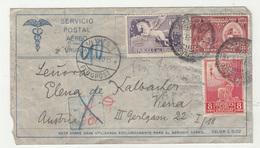 Uruguay, Letter Cover Travelled 1930 Montevideo To Wien Via Paris B190401 - Uruguay
