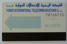 YEMEN - Autelca - YEM7 - 1990 - Powder Blue Arrow - 80 Units - Used - Yemen