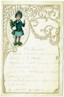 Lettre Gaufrée D'Enfant Avec Découpi. 1913. - Enfants