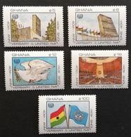 Ghana  UN 40th. Anniv. M.N.H. - Ghana (1957-...)