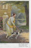 AK 0208  Erlang , Gd. P. V. - Das Herrchen Kommt / Künstlerkarte Um 1910-20 - Hunde