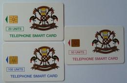 UGANDA - Chip - Set Of 3 - Smart Card - 10 To 50 Units - Used - Uganda