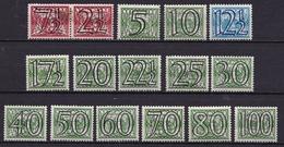 1940 Guilloche Opdrukserie Cijfers Ongestempelde Serie T/m 100 Ct NVPH 356 / 371 - Ongebruikt
