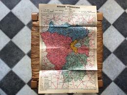 ANCIENNE CARTE GÉOGRAPHIQUE RÉGION PARISIENNE Préfectures  CARTOGRAPHIE OLLER  Chantepie - Geographical Maps