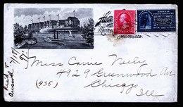 A6054) US Werbebrief Mit Expressmarke 1897 N. Chicago - 1847-99 Unionsausgaben