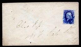 A6055) US Brief EF 1 Cent Blau M. Grill Mit Blauem Kreuzstempel - 1847-99 Unionsausgaben