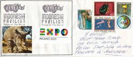 INDONESIE. EXPO  MILANO 2015.belle Lettre Du Pavillon Indonésien, Rhinocéros De Java, Adressée En ANDORRE - 2015 – Milano (Italia)