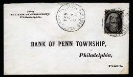 A6056) US Brief Philadelphia 1864 M. 2 Cents Black - 1847-99 Unionsausgaben
