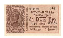 2 Lire Buono Di Cassa Serie 144 17 10 1921 N.c. Sup LOTTO 1893 - Italia – 2 Lire