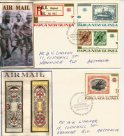 Deutsch-Neu-Guinea Stamps 1897-1914, Série Sur Deux FDC's Année 1973 (Registered Mail) - Papúa Nueva Guinea