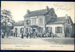 Cpa Du 93 Aulnay Sous Bois Extérieur De La Gare  CC5 - Aulnay Sous Bois