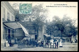 Cpa Du 92 La Croix De Berny Café Restaurant De La Terrasse , Bourdeau ,  Antony  CC5 - Antony
