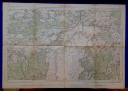 BEAURAING Mesure 1870-1905 CARTE D ETAT-MAJOR 58 GIVET VONECHE WIESME FESCHAUX HARGNIES FELENE SURICE VENCIMONT S375 - Beauraing