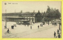 * Gent - Gand (Oost Vlaanderen) * (Nels, Série 3, Nr 36) Gare Du Sud, Railway Station, Bahnhof, Tram, Vicinal, Animée - Gent
