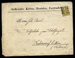A6061) Luxemburg Streifband Vorausentwertung 4 Cent Geteilter Aufdruck - Luxemburg