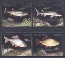 Poland 2016 Fauna Fish 4v MNH - Fishes