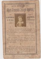 HERGNIES  Faire-part De Décès  Albert-François-Joseph DUPRIEZ   1883/1889 - Obituary Notices